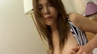 Yukari Kanou craves for dildo up her vag  masturbation mom amateur sex-toys busty milf hairy-pussy vibrator alljapanesepass mother solo-girl adult toys short skirt
