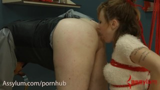 Skinny girl eats abusive doctor's ass and gets painful anal  ass eating ass fuck skinny domination atm rough anal bondage assylum innocent ass licking ass to mouth freckles painal exploited painful
