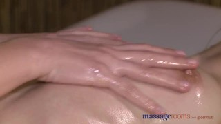 Preview 5 of Massage Rooms Two young brunettes get oiled up for some hot lesbian fun