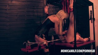 Femdom Slave get's machine pegged and fucked by Norwegian MonicaMilf fleshlight mistress-domination femdom milf-monica kink mom monicamilf norwegian norsk-porno mother bdsm scandinavian fucking-machines bondage monica-milf-norway femdom-pegging
