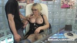 Office slut MonicaMilf in The fucking secretary Norsk Porno