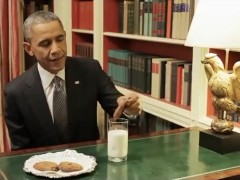 Obama masturbates to cookies not fitting in the hole