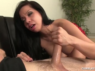 Cum Splatter For The Asian Babe