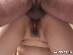 Asian skank gets her wet pusys dick filled up