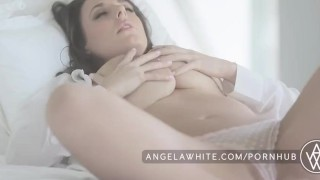 Big Tit Australian Angela White Masturbating in Bed  big natural tits big tits masturbation erotic australian masturbate solo classy busty curvy brunette big boobs aussie all natural porn star natural tits angelawhite huge tits