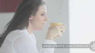 Big Tit Australian Angela White Masturbating in Bed  big natural tits all natural big tits masturbate busty porn star brunette big boobs erotic aussie australian curvy natural tits angelawhite solo classy masturbation huge tits