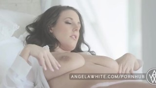 Big Tit Australian Angela White Masturbating in Bed  big natural tits big tits masturbation australian masturbate solo classy busty curvy brunette big boobs erotic aussie all natural porn star natural tits angelawhite huge tits