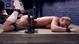 California Girl Gets Brutal Torment  tease bdsm punish submission blonde masochist fetish domination torment kink vibrator gagged sadist devicebondage bondage adult toys