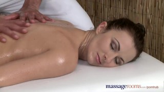 Massage Rooms Horny woman sucks and fucks her big cock stud masseur big cock massagerooms sensual oral sex female friendly babe fingering orgasm brunette erotic doggy style female orgasms massage