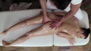 Massage Rooms Horny woman sucks and fucks her big cock stud masseur  doggy style female orgasms big cock babe erotic massage sensual brunette fingering orgasm massagerooms oral sex female friendly