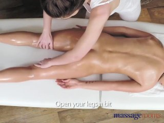 Massage Rooms Stunning beautiful lesbians enjoy sensual intense orgasms