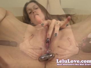 Lelu Love-Closeup Vibrator Masturbation With Anal Plug In