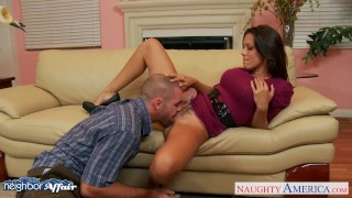 Preview 4 of Brunette Rachel Starr fuck her lucky neighbor
