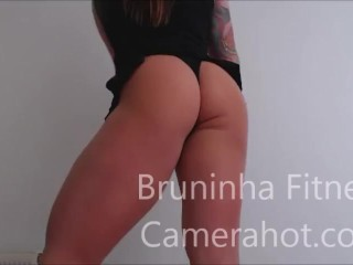 Upskirt dancing - Big brazilian butt lingerie