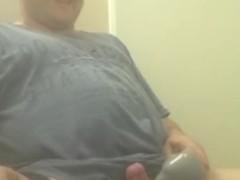 Massaging my tiny cock to cum on webcam