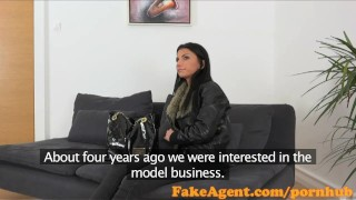 FakeAgent Sexy 18 year old babe takes first time Creampie in Office  reality couch real fakeagent interview homemade audition cumshot pov amateur casting