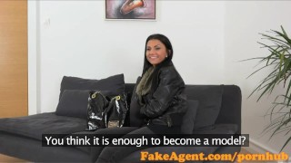 FakeAgent Sexy 18 year old babe takes first time Creampie in Office  homemade audition amateur cumshot pov casting couch real reality fakeagent shaved tight interview
