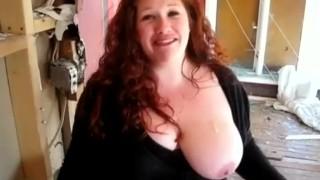 Housewife Has first Gloryhole Experience  big tits homemade bbw redhead amateur blowjob gloryhole jizz cumshot chubby busty housewife big boobs homegrownvideo
