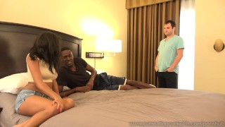 Diamond Monrow Receives Black Cock In Front Of White Husband  masturbation black cock cuckold oral ebony dildo black tattoo bisexual cumeatingcuckolds cock sucking interracial 3some threesome cum eating cum shot cum clean up