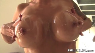 PornstarPlatinum - Nina Elle oiled up dream