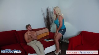 Preview 2 of Horny blonde Bridgette B. fucking her neighbor
