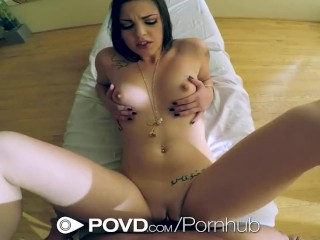 Hd povd brunette rachael madori spreads her pussy in pov 3