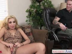 Beauty blonde Carmen Caliente fucking