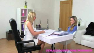 FemaleAgent. Beautiful bisexual blonde seduces the horny agent audition girl-on-girl babes amateur blonde office tattoo strap-on lesbian femaleagent orgasm doggy-style casting hd interview czech pussy-licking
