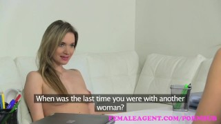 FemaleAgent. Beautiful bisexual blonde seduces the horny agent audition girl on girl babes amateur blonde office tattoo strap on lesbian femaleagent orgasm doggy style casting hd interview czech pussy licking
