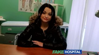 FakeHospital Sexy patient likes it from behind with her new doctor  point of view spying amateur doctor voyeur small tits pov hardcore brunette reality hospital fakehospital exam hidden cameras spy cam