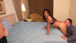 Angelina Chung Fucked While Cuckolding Her Sissy Husband  masturbation cuckold dildo wife asian husband blowjob cuck fetish cock sharing bisexual cumeatingcuckolds vibrator facial