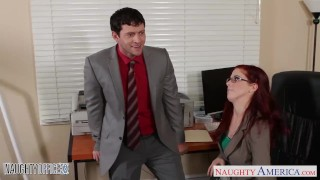 Preview 3 of Redhead cutie in glasses Penny Pax fuck in the office