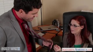 Preview 4 of Redhead cutie in glasses Penny Pax fuck in the office