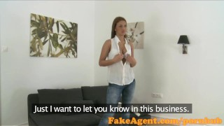 FakeAgent Tanned amateur with amazing body takes first time Creampie  homemade oral-sex point-of-view audition office-sex amateur cumshot pov casting couch real office reality fakeagent shaved interview