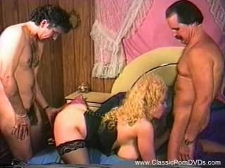 Classic Trashy Blonde Threesome From 1973 Wild