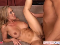 Chesty blonde mom Brandi Love take cock