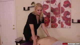 Gagged And Teased big cock femdom handjob teasing blonde amateur punishment oil bondage happy ending meanmassages massage rub and tug