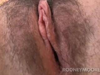 Luna Rae Hairy Babe in Lingerie Masturbating