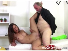 Young Teen fucked by older men