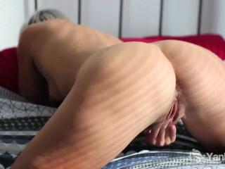 XXX porn - estel-two: Short Haired Steel Finger And Toy Her Cunny