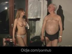 Grandpa pussylicks and pumps hot Russian babe Olga