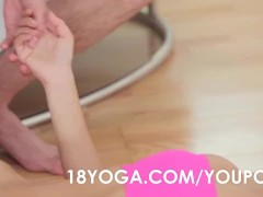 Teen Paula Shy In Yoga Outfit Anal Ass Fucked By BF