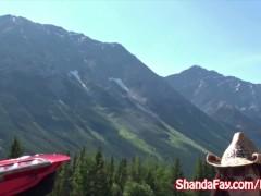 Good Outdoors Canadian Fun With an Amateur Busty MILF Shanda Fay!