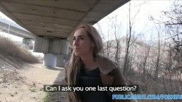 PublicAgent Long haired blonde fuckoing in public