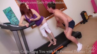 Cuckold and Encouraged Bi Sampler by Lady Fyre  hairy pussy olivia fyre lady fyre cuckold humiliation redhead femdom big dick kink joi nylon encouraged bi personal trainer gym bisexual cuckold cheating wife