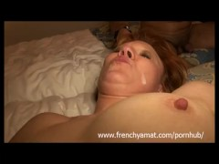 two cocks for a horny french mature