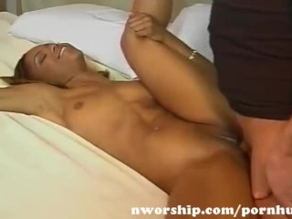 Horny kiki squirts and sucks big cock on tv show 1