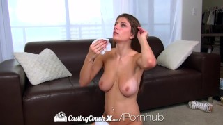 HD CastingCouch-X - Sexy Dillion Carter tries fucking on camera
