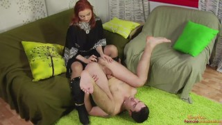 Girl Dutifully Fucking Guys Butt With Vibrator And StrapOn bdsm female domination femdom face sitting cuckold fetish cfnm facesitting ballbusting smothering