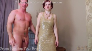 Cuckolding Cheating Wife/ coerced Bi by Lady Fyre  titty worship lady fyre big cock ginger cuckold femdom coercion milf kink ladyfyre hypnotize cuckold humiliation cheating wife encouraged bi boss fucks my wife